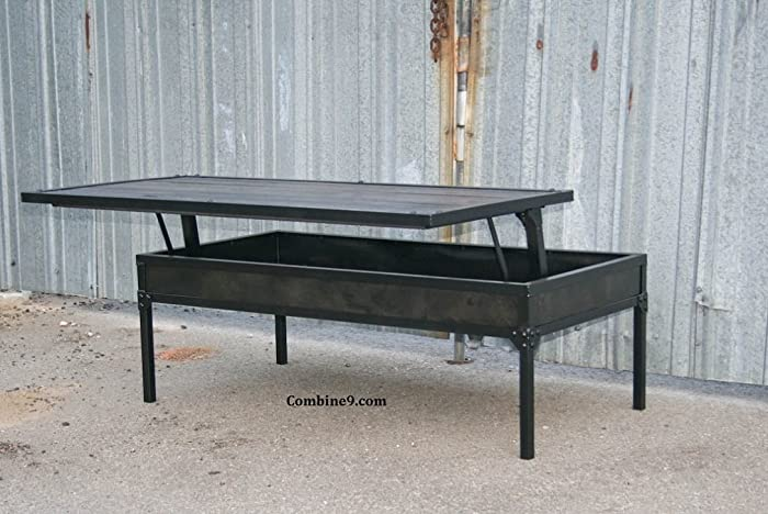 Elegant Adjustable Height Coffee Table. Modern Industrial. Urban/Loft Decor.