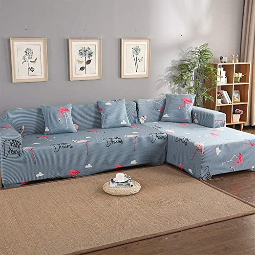 AjAsh7 Funda De Sofa Elástica Chaise Longue Brazo Largo ...