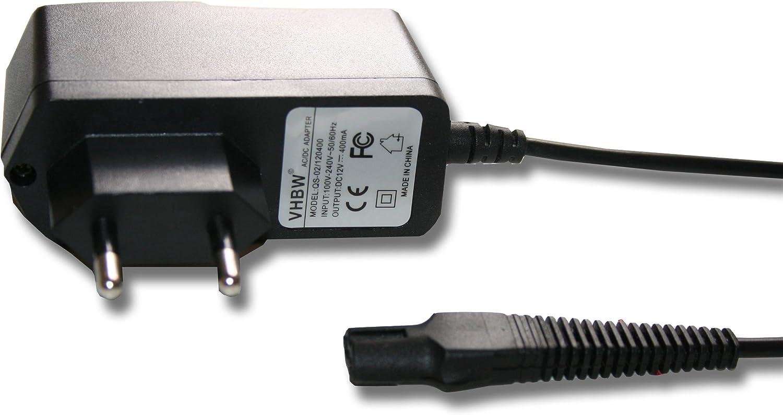 vhbw 220V Fuente de alimentación, Cargador (12V/0.4A) para afeitadora Braun Flex, Cruzer, FreeControl por 5875, 5210 ...