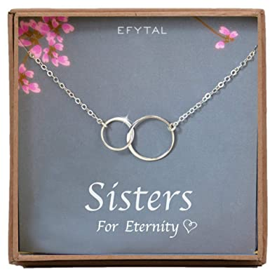 EFYTAL Sister Gifts From Necklace In Sterling Silver Birthday Jewelry Older