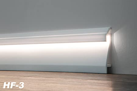 Led Baseboard Lighting Intended 200 Meter Led Skirting Board Piece Interior Baseboard Berlin Switch 109x22 Mm Hf3