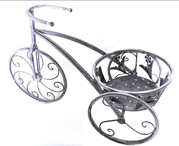 REVIMPORT Macetero Bicicleta, Metal, Gris, 50 x 24 x 36 cm: Amazon ...