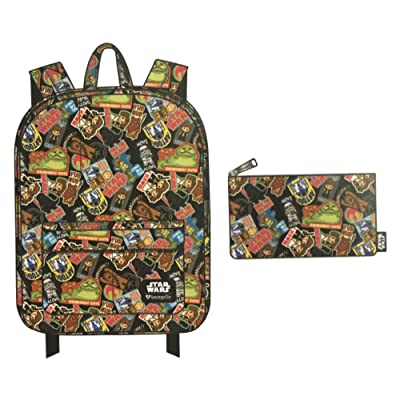 outlet Loungefly Star Wars Backpack and Pencil Case Bundle Set for Back to School (Stickers All Over Print)