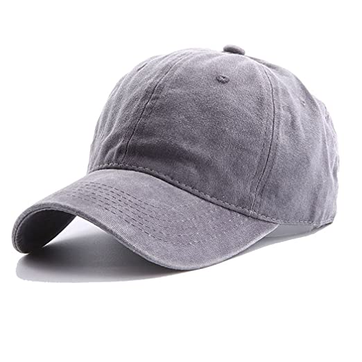44e3a59624d ... buy online 61fb9 c14e6 Yusongirl Vintage Washed Twill Cotton Baseball  Cap Classic Dad Hat Adjustable Low ...