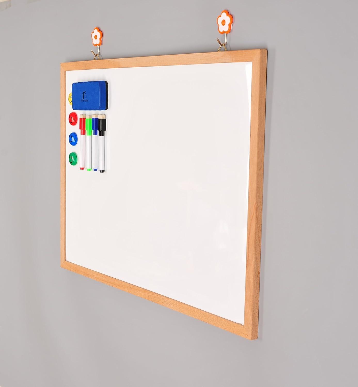 Amazon.com : Whiteboard Set - Wooden Frame Dry Erase Board 24 x 18 + ...