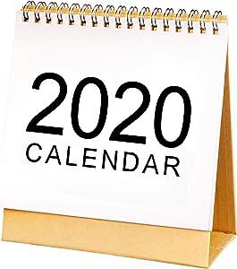 Desk Calendar Oct. 2019 to Dec. 2020 Desktop Calendar Monthly Daily Planner Calendar Double-Sided Flip Desk Calendar for Office and Home Use (Medium)