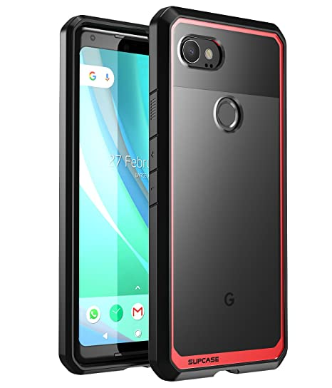 best sneakers 1db30 6ce42 Google Pixel 2 XL Case, SUPCASE Unicorn Beetle Series Premium Hybrid  Protective Clear Case for Google Pixel 2 XL (2017 Release) (Red)