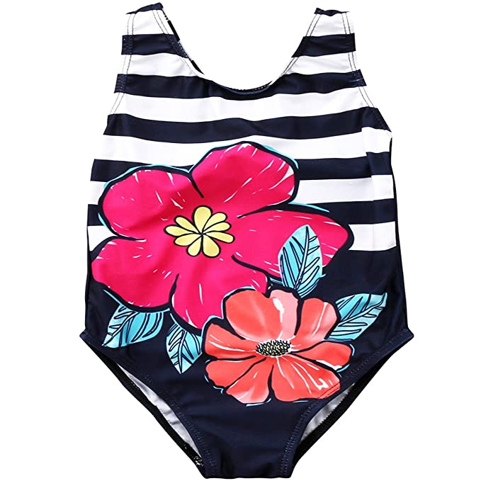 GIRLS TODDLER PINK PLATINUM STRIPED ONE PIECE SWIM SUIT SIZE 2T NEW WITH TAGS