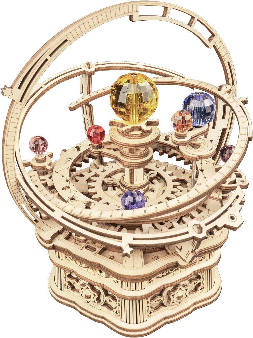 ROKR 3D Wooden Puzzles Model Kits Mechanical Music Box Victorian Lantern