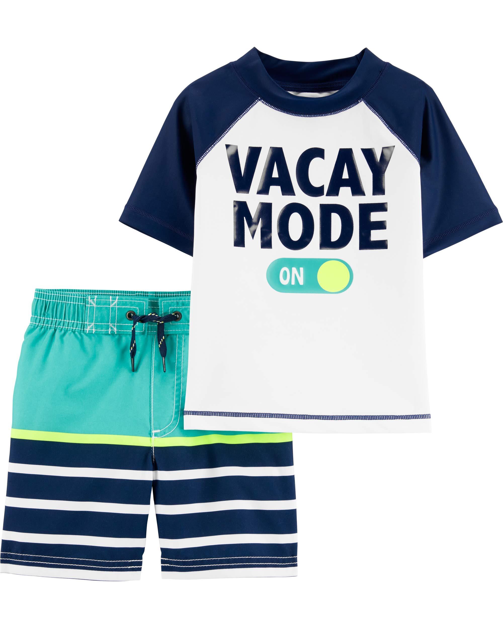 Carter's Toddler Boys' Rashguard Swim Set, Vacay