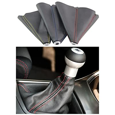 PVC Shift Boot for Manual Automatic Car/Auto Gear Shift Knob Cover MT/AT Universal Type(Blue): Automotive
