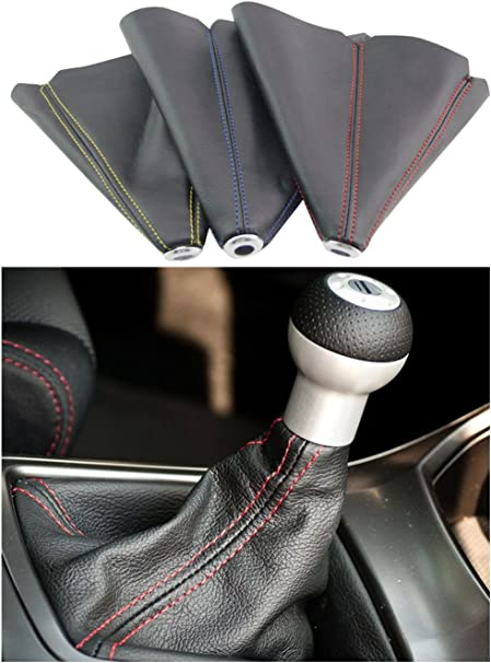 X AUTOHAUX Universal PVC Faux Leather Gear Shifter Knob Cover Car Dust Boot Cover 24 x 27cm