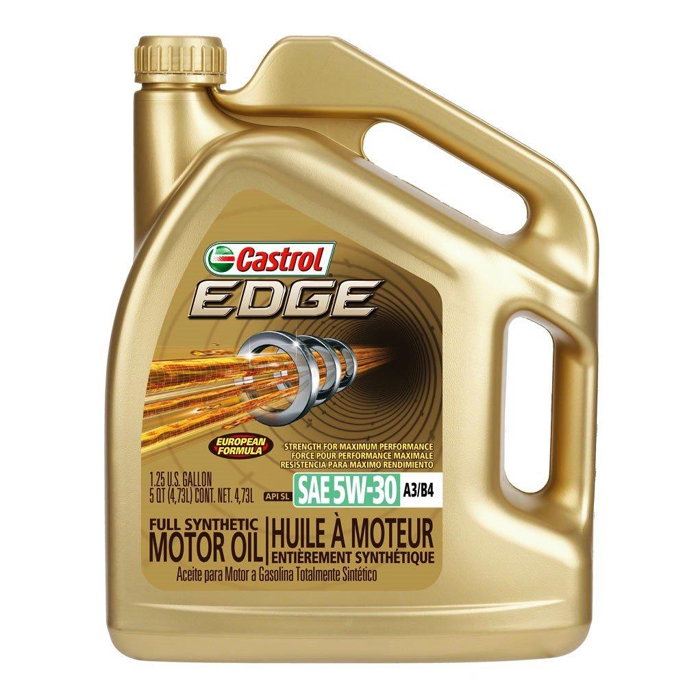 castrol 03037 edge gold 5w 30 synthetic motor oil 5 quart. Black Bedroom Furniture Sets. Home Design Ideas