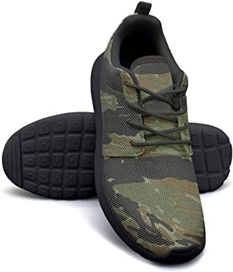 LOKIJM Camo Army Camouflage Gym Shoes