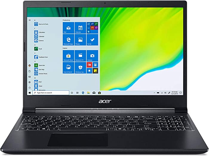 "Acer Aspire 7 Laptop, 15.6"" Full HD IPS Display, AMD Ryzen 5 3550H, NVIDIA GeForce GTX 1650, 8GB DDR4, 512GB NVMe SSD, Backlit Keyboard, Windows 10 Home, A715-41G-R7X4"