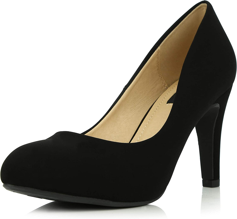 DailyShoes Women's Memory Foam Cushion High Heel Stiletto Pumps Shoes