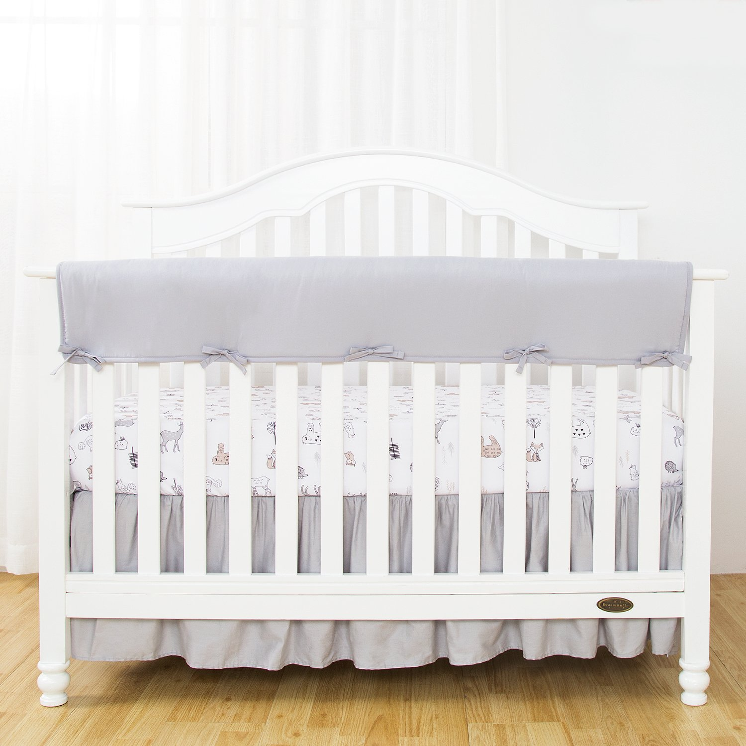 Amazon Com Tillyou 2 Pack Padded Baby Crib Rail Cover