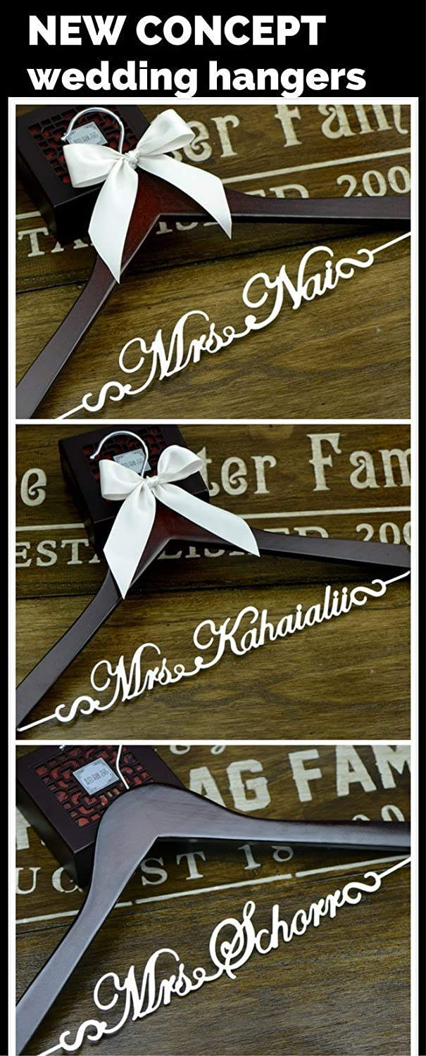 Personalized Hanger, Wedding Dress Hanger, Bride Hanger, Bridal Shower Gift, Gift for Bride EL001