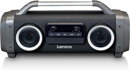 Lenco Spr 100 Boombox Ipx4 Wasserdichte Bluetooth 5 0 Elektronik