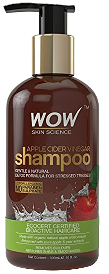 WOW Apple Cider Vinegar No Sulphate & Parabens Shampoo, 300ml-Best-Popular-Product