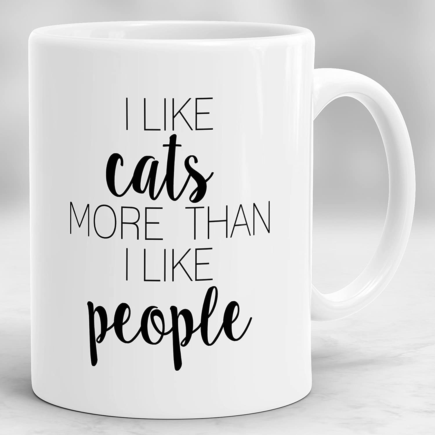 I Like Cats More Than People Mug Cat Mug Meow Mug P167 Cat Lover Gift Pet Gifts Kitty Gift Cat Cup Animal Lovers Gift