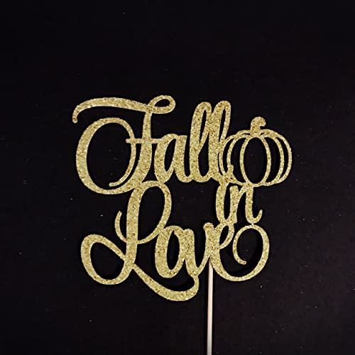 fall in love cake topper fall in love bridal shower bride to be cake