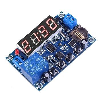 tmallshop DC 12 V 3 canal Digital programable interruptor de tiempo reloj temporizador relé 24 horas diario 4 dígitos LED rojo dtmallshopplay: Amazon.es: ...
