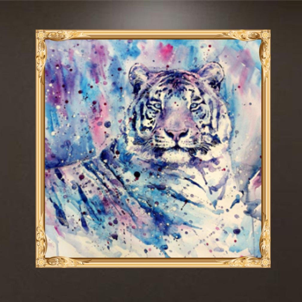 A SO-buts DIY 5D Full Square Drill Lovely Animals Diamond Painting Decorating Wall Stickers Gift For Fathers Day Monthers Day