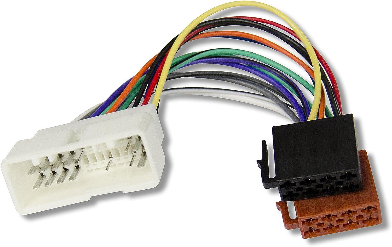 Watermark 4686 – Cable Adaptador para Radio de Coche para Kia Sportage, Rio, Carnaval, Sorento-Hyundai Santa Fe, Sonata, Coupe, Accent, Elantra, H1, ...