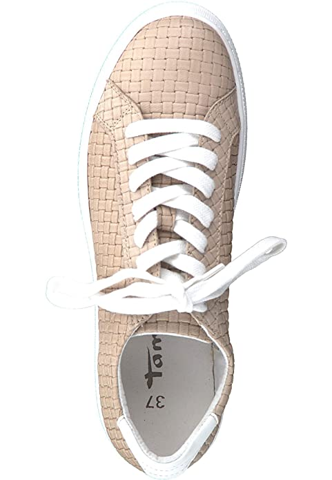 807af7b688400 Tamaris Leder Espadrille avec Yoga Blanc It Seul 1-23629-28 117 Cuir Blanc