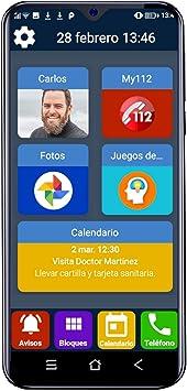 Teléfono móvil para Personas Mayores Familyar con Iconos ...