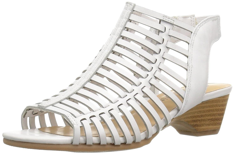 blanc cuir 9 C D US Bella Vita Wohommes Pacey Wedge Sandal