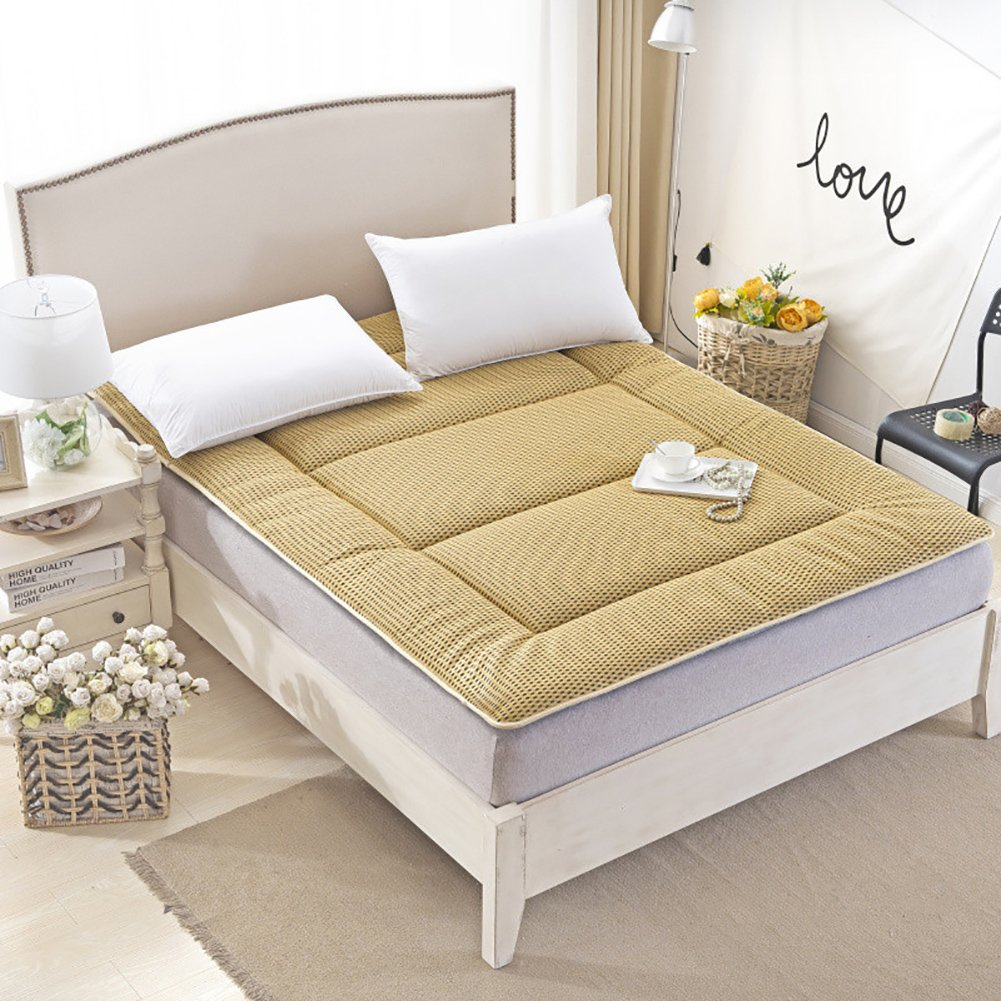 DULPLAY 通気性 Thickn 寝室ベッド パッド マットレス パッド,スリップ マットマット 式 ベッド マットレス 寝具 屋外 ベッド カバー 式 -キャメル 135x200cm B07JVBS1GM Light tan 135x200cm