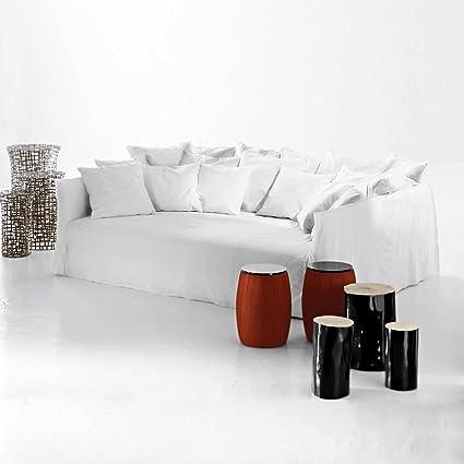 Ghost Gervasoni 16 sofá, blanco: Lino blanco incluye 4 cojín ...