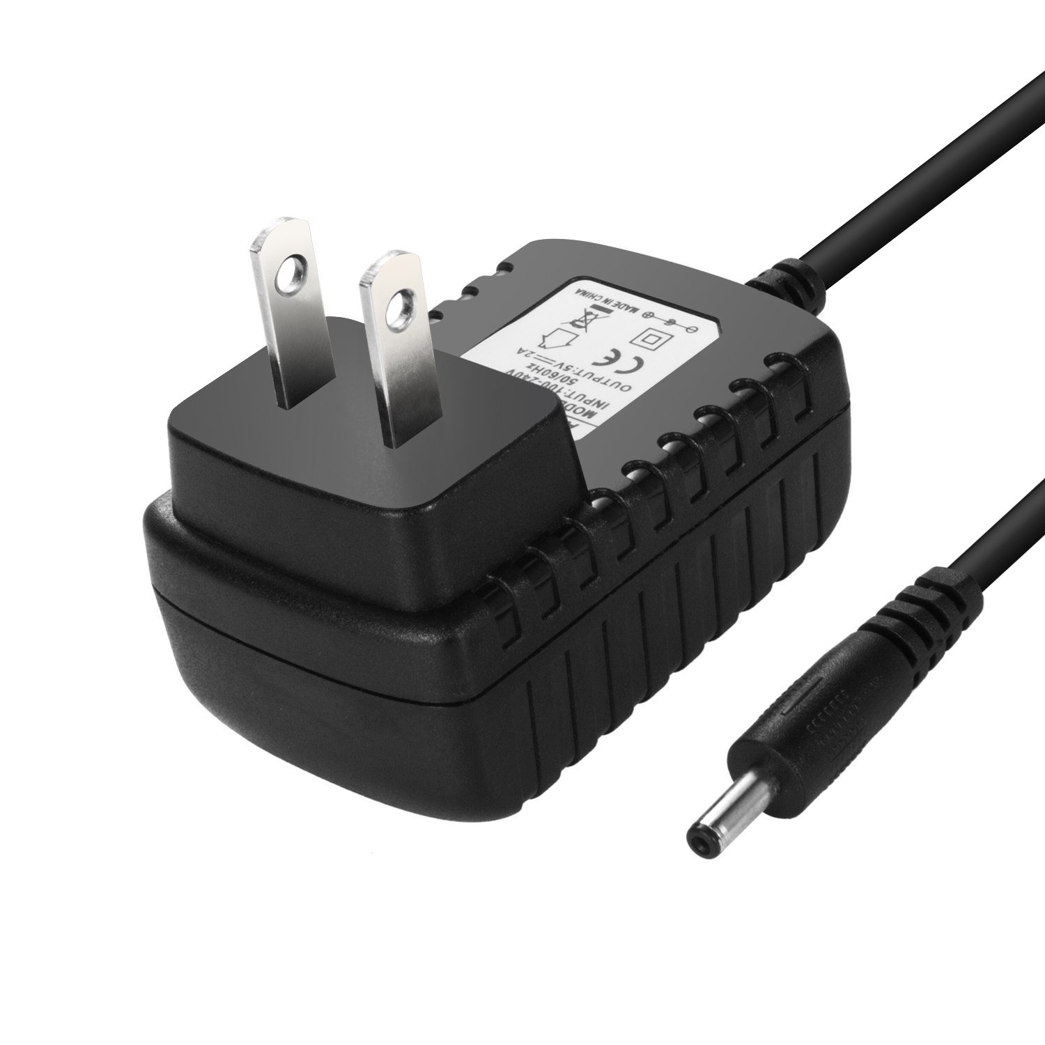 Cateck DC 5V 2A/2000mah charger 3.5mm AC Power Adapter Wall Charger, Black (US Plug)
