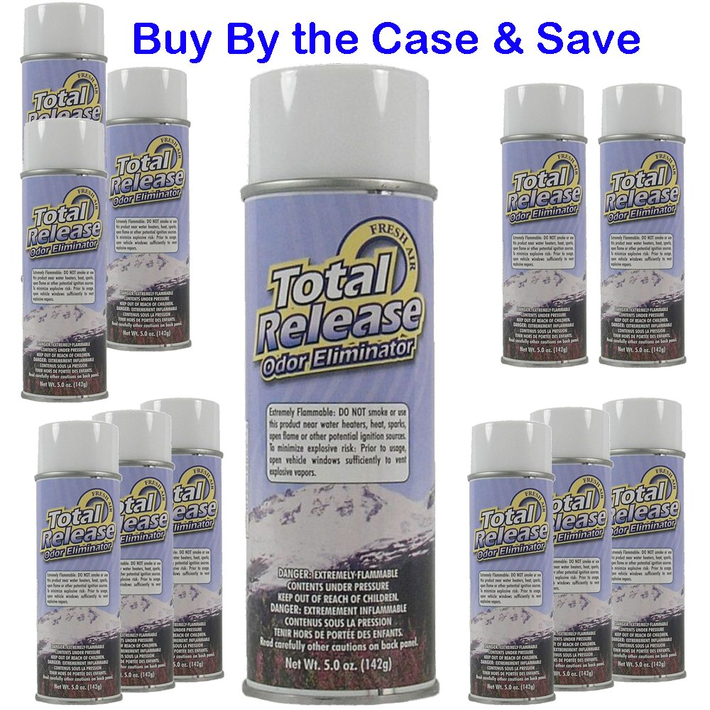 Hi-Tech Total Release Odor Eliminator - Fresh Air (Case of 12 Aerosol Cans)