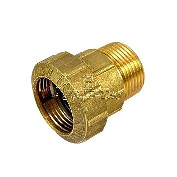 Extrem Agora-Tec® Messing Fitting Kupplung 32 mm x 1 Zoll AG (33,3 mm IQ25