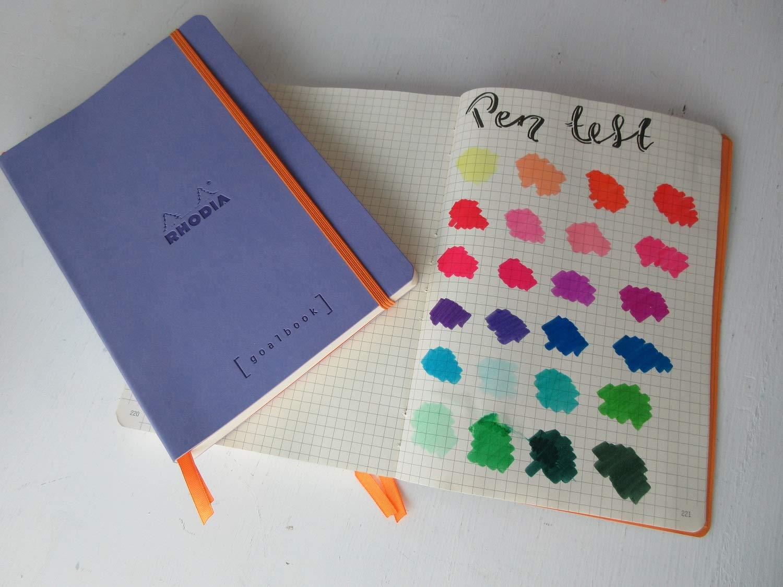 Clairefontaine Rhodiarama GoalBook carnet 240 pages num/érot/ées ivoire dot /à points A5 90 g Violet fonc/é