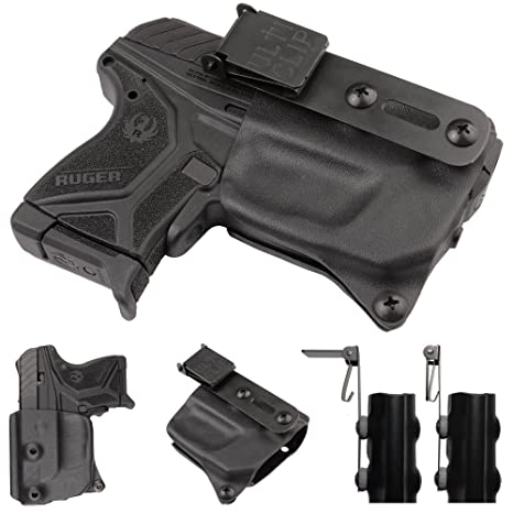 Compact Holster with Ulticlip for Ruger LCP II Pistols with Crimson Trace