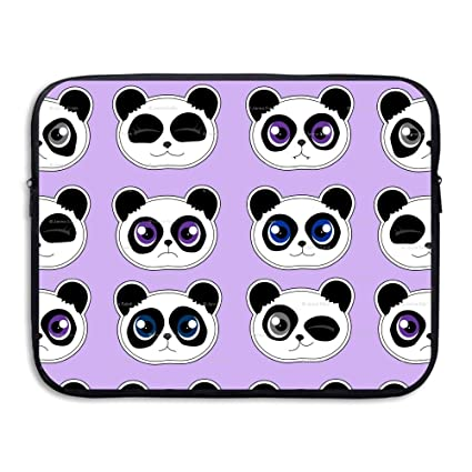 Image Unavailable. Image not available for. Color  Panda Expressions Purple  Black Friend Water Repellent Laptop Case Bags Laptop Bags Computer ... 6daf987378563