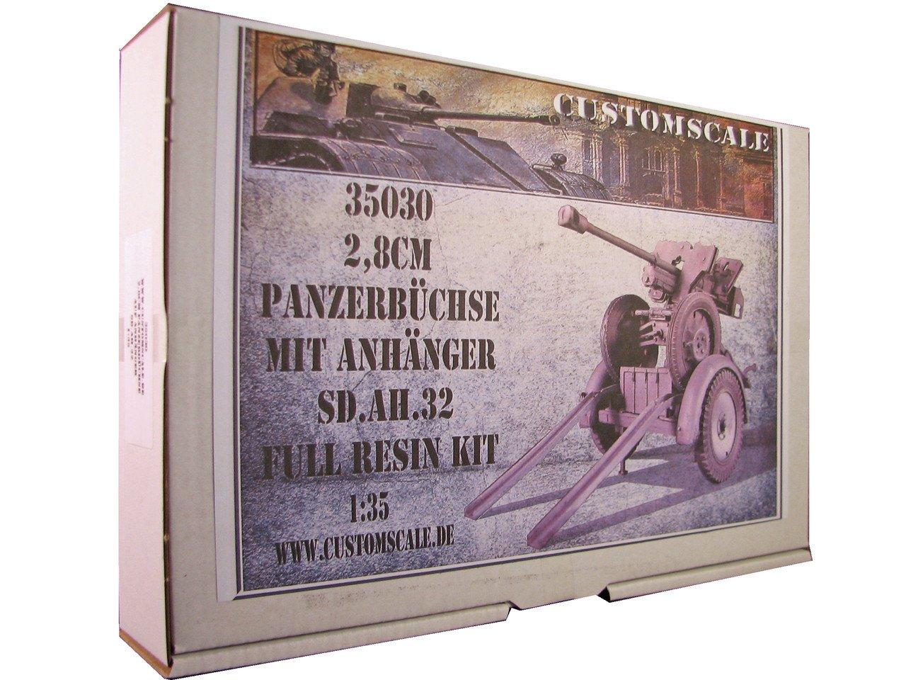 customscale 1 : 35 2.8 CM panzerbuchse 41 onトレーラーSD。Ah。32樹脂キット# 35030 B01JRJT8LG
