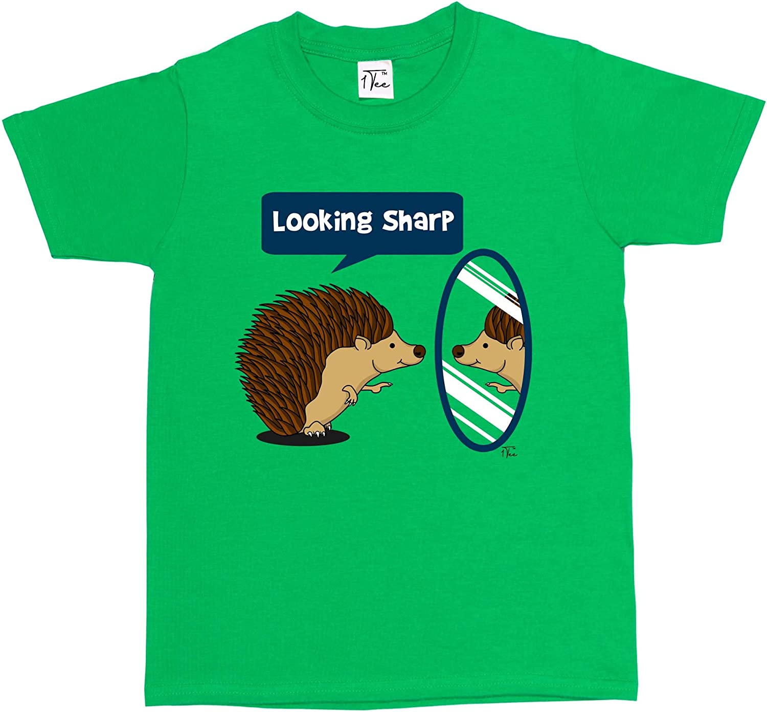 1Tee Girls Looking Sharp Hedgehog T-Shirt
