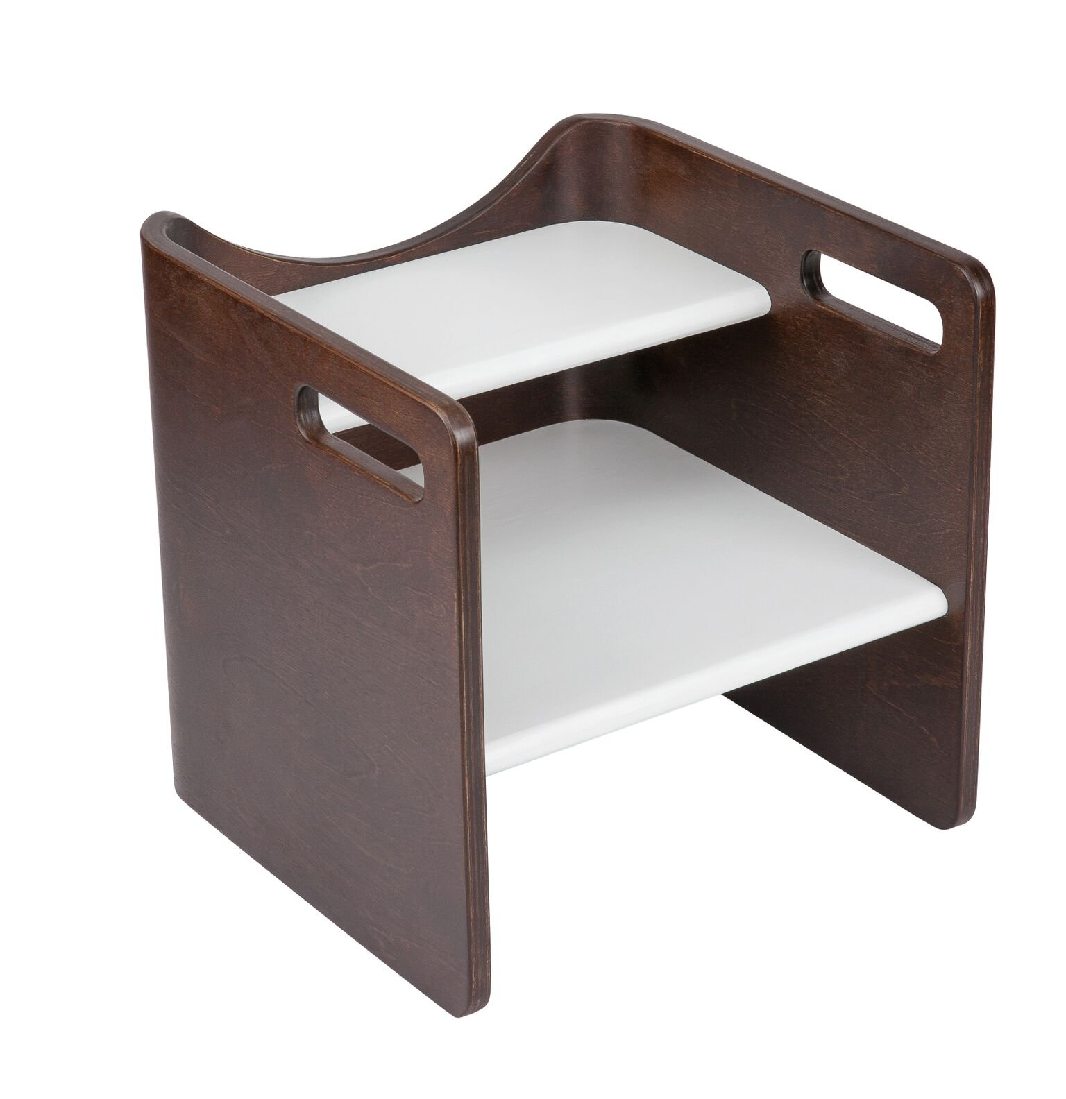 Bloom Pogo 3-in-1 Children's Step Stool, Solid Wood, Made in Europe (Cappuccino/Brown)