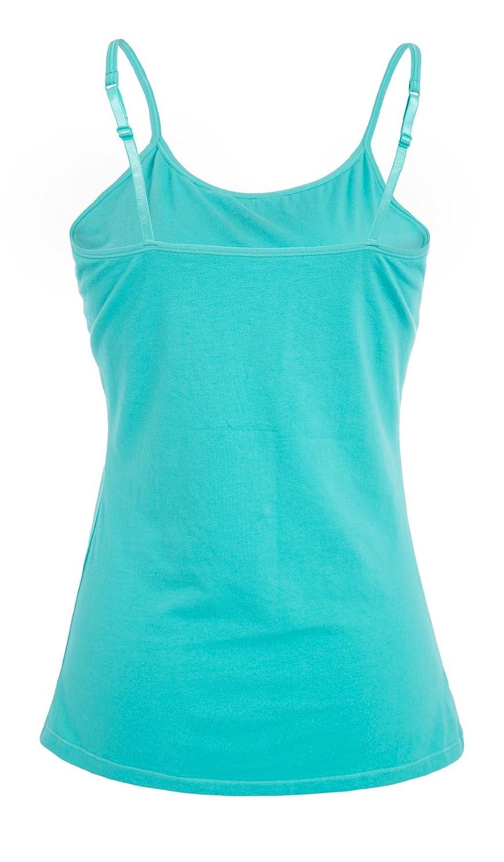 1aa4e219eb ATTRACO Womens Cotton Camisole Shelf Bra Spaghetti Straps Tank Top 2 Packs