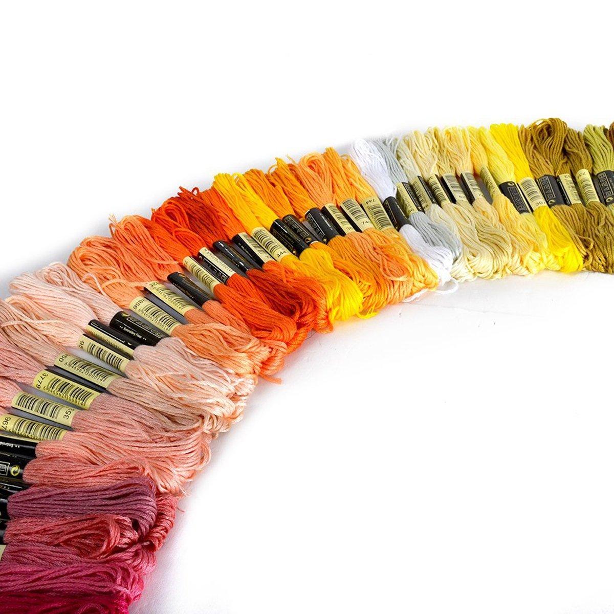 random colour hab/ía TinkSky hilo de nitr/ógeno de la torcedura DMC hilo de 150 hilos de 8 M Multi-colour hilos