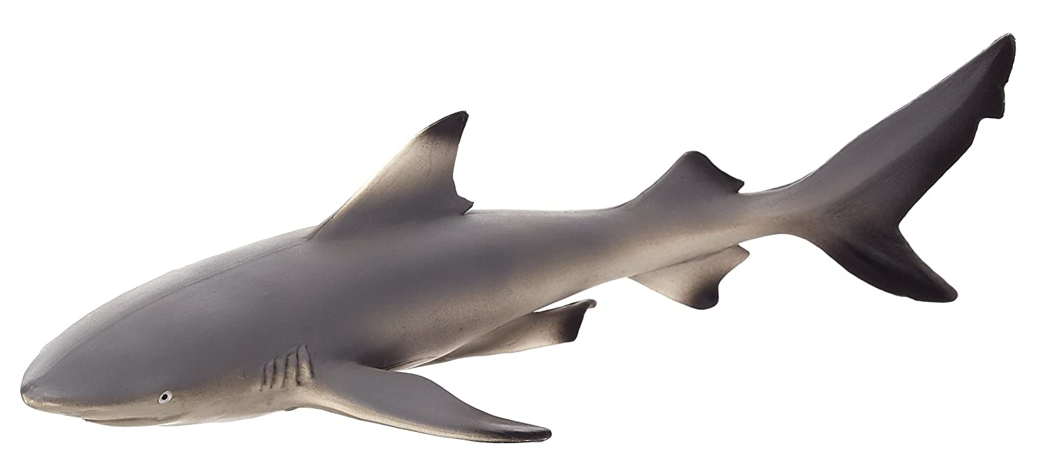 MOJO 387357 Black Tip Reef Shark Toy Figure, Multi-Colour