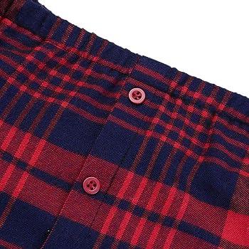 Camisa De Leñador Mujer Primavera Otoño Shirts Elegante Moda Ocasional Vintage Camisas Manga Larga Ropa A Cuadros Barco Cuello Sin Tirantes Irregularmente con Botonadura Blusas Camisetas: Amazon.es: Ropa y accesorios