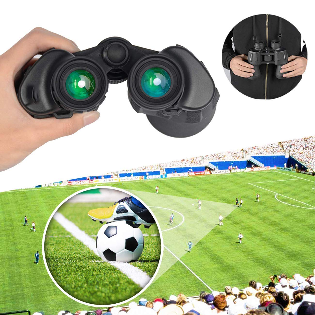 Amazon.com: XUEXUE 10X50 High Power Military Binoculars BAK4 Large Eyepiece Compact Waterproof Binoculars Telescope Multilayer Coated Lenses Adult Bird ...
