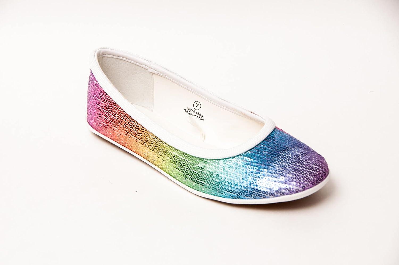 multicolor sequin shoes