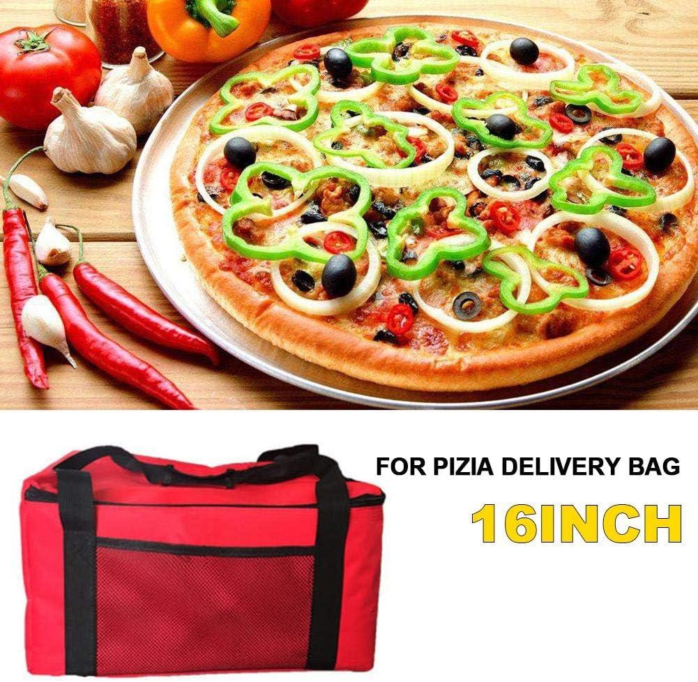 16 Pollici per Dolci per Pizza Borsa Isolante per Pizza//Food Delivery Bag per Picnic Feste pegtopone